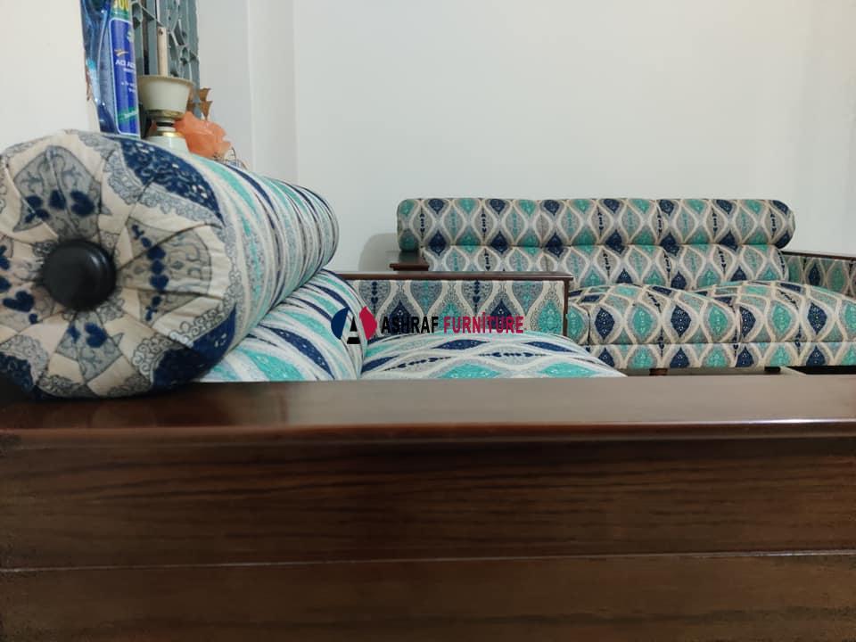 fabric change sofa repaired foam changed with polish.