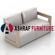 Ashraf Furniture 2 Sitter Artificial Leather Office Sofa