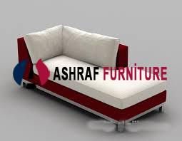 Ashraf Furniture Darkred with White Divan